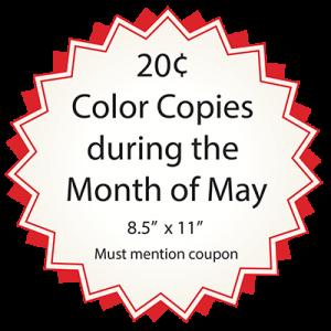 color copy may special